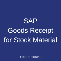 SAP Goods Receipt for Stock Material